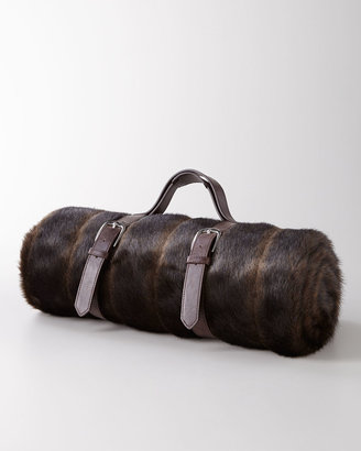 NM Exclusive Faux-Fur Mink Travel Blanket