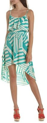 Charlotte Russe Ruffle Bust Hi-Low Dress