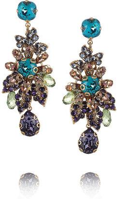 Swarovski Bijoux Heart Gold-plated crystal earrings