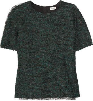 Kenzo Contrast-back mélange wool-blend top