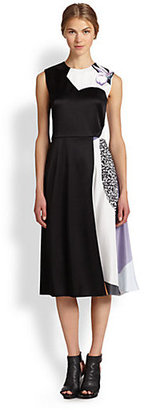 3.1 Phillip Lim Soleil Mixed-Print Dress