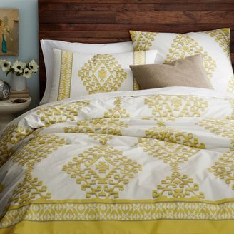 west elm Organic Cotton Mandala Ikat Duvet Cover + Shams