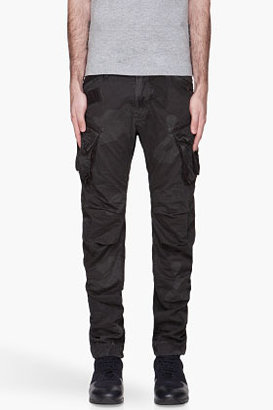 G Star G-STAR Black Camouflage Rovic loose Tapered cargo pants