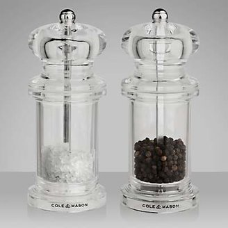 Cole & Mason 505 Acrylic Salt and Pepper Set, 13cm