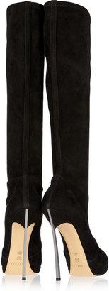 Casadei Stretch-suede knee boots