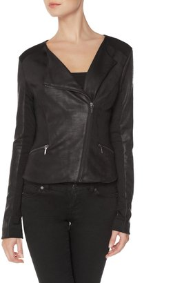 The Limited Faux Leather Moto Jacket