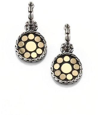 John Hardy Dot 18K Yellow Gold & Sterling Silver Drop Earrings
