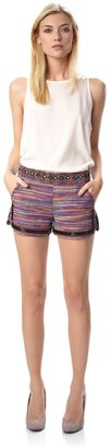 French Connection Sable Striped Shorts