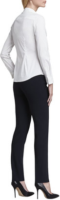 Theory Larissa Button-Front Blouse