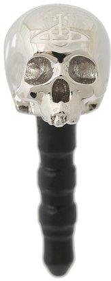 Vivienne Westwood Skull Phone Charm (Palladium/White) - Electronics