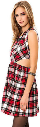 *MKL Collective The Flannel Cut Out Dress in Black Plaid