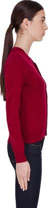 Comme des Garcons Burgundy Red Emblem Cardigan