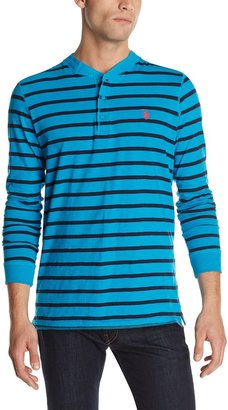 U.S. Polo Assn. Men's Slim Fit Striped Pocket with Solid Yoke