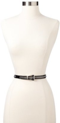 Nine West Women's Reversible Belt With Chain Inlay