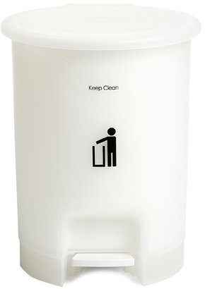 Container Store 2.5 gal. Round Step Can White