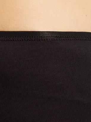 Hanro Seamless Cotton Boy-short Briefs - Black