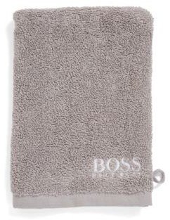 BOSS Finest Egyptian cotton washing mitt with contrast logo embroidery