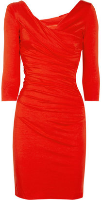 Diane von Furstenberg Bentley ruched stretch-jersey dress