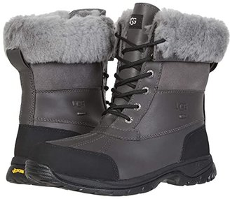 UGG Butte (Black Leather) Men's Waterproof Boots