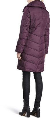 Eileen Fisher Puffer Weather-Resistant Coat, Long-Sleeve Top, Skinny Jeans & Puckered Silk Scarf, Women's