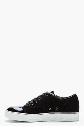 Lanvin Black patent and suede tennis shoes