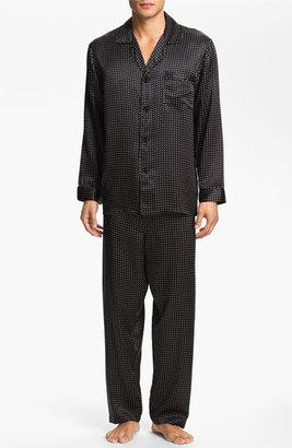 Men's Majestic International Dot Silk Pajamas $200 thestylecure.com