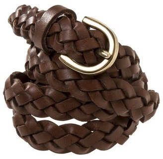 Mossimo Women's Braided Leather Belt - Brown