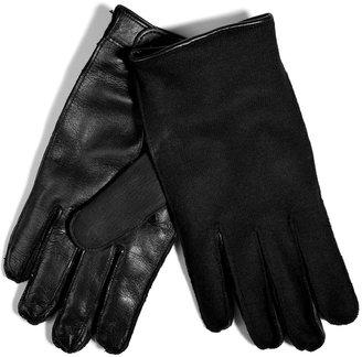 Neil Barrett Leather/Wool Gloves in Black