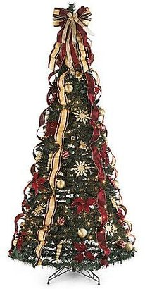 JCPenney 6' Collapsible Burgundy Christmas Tree