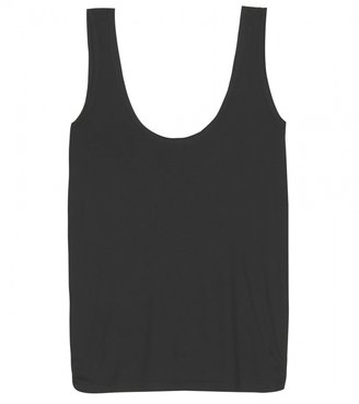 The Row ROGER TANK TOP WITH BANDED SATIN TRIM