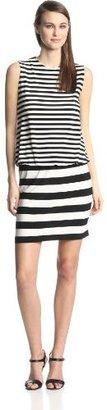 Babydoll KAMALIKULTURE Women's Sleeveless Stripe Dress