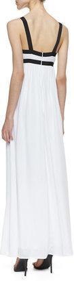Ella Moss Two-Tone Slit Maxi Dress