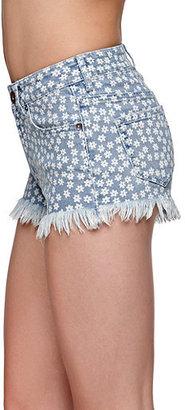 Bullhead Denim Co Extreme Fray Hem Mini Daisy Shorts
