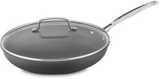 Cuisinart 12 in. Non-Stick Hard Anodized Skillet with Glass Cover
