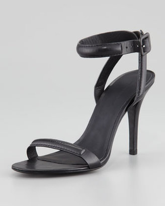 Alexander Wang Antonia Leather Ankle-Wrap Sandal