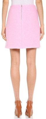 Carven Crushed Crossover Skirt