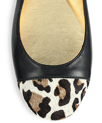 Kate Spade Jazz Mixed-Media Leather Flats