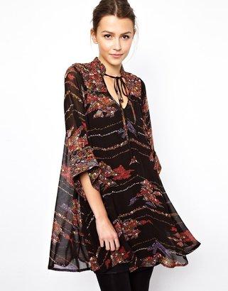 Asos Swing Dress In Boho Print