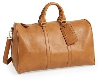 Sole Society 'Cassidy' Faux Leather Duffel Bag - Brown $69.95 thestylecure.com