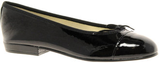 French Sole Sturdy Patent Ballerina