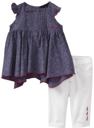 Calvin Klein Baby-Girls Infant Capri Set Top With Pull On Pant