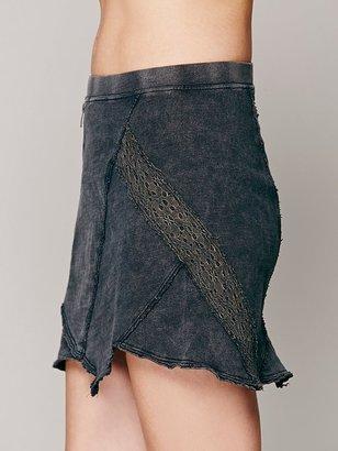 Free People Moto Slub Knit Mini Skirt