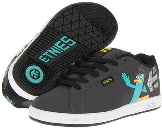 Etnies Disney Fader (Toddler/Little Kid/Big Kid) (Grey/Black/Blue) - Footwear