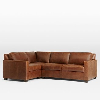 west elm Henry® 3-Piece Sectional - Leather