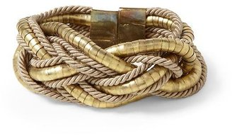 Vince Hive & Honey Braided Rope and Metal Bracelet