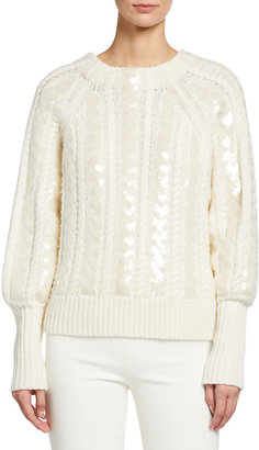 Veronica Beard Yola Sequined Pullover Sweater