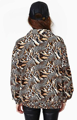 Nasty Gal Feeling Catty Bomber Jacket