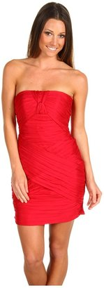 ABS by Allen Schwartz Sweetheart Strapless Dress (Garnet) - Apparel