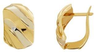 Lord & Taylor 14Kt. Yellow Gold Swirl Earrings