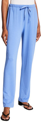 Caroline Rose Plus Size French Terry Drawstring Straight-Leg Pants